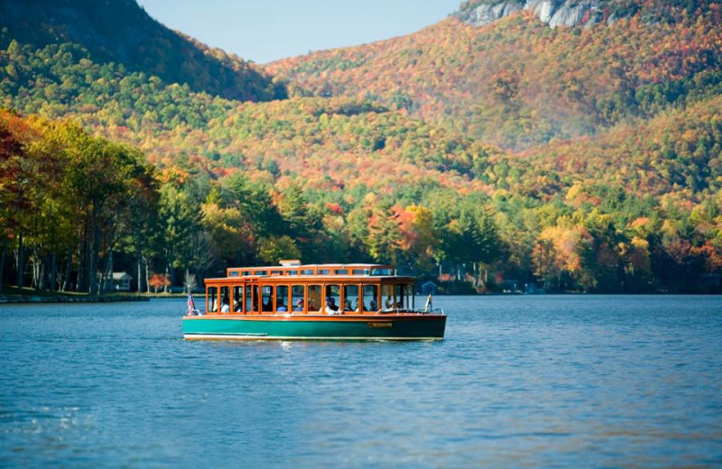 Boat rides on the lake at The Greystone Inn.