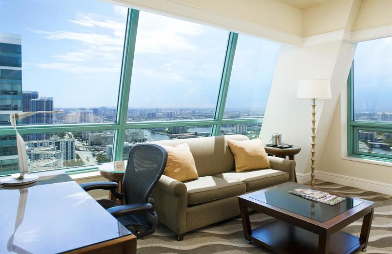Guest suite at The Westin Diplomat Resort.