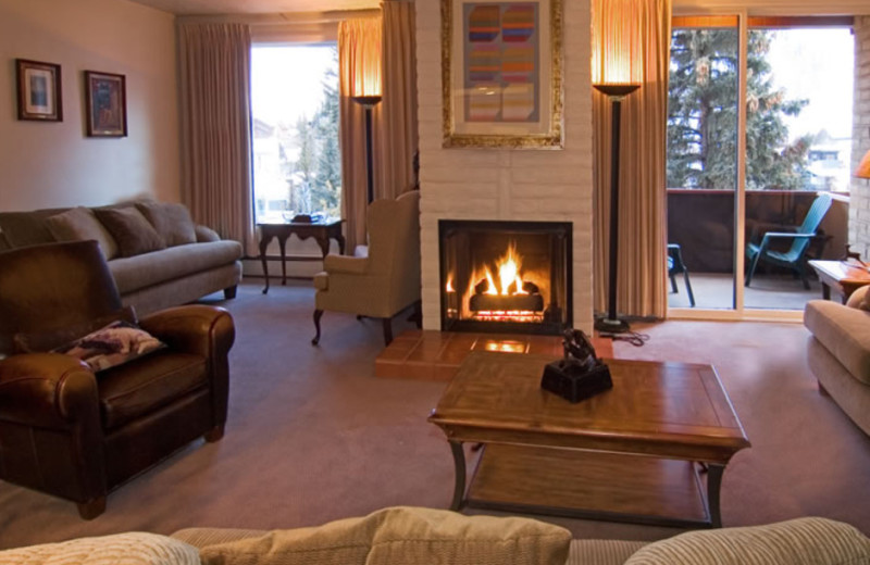 Guest living room at Vail's Mountain Haus.