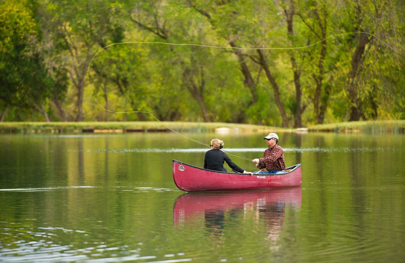 Canoeing at Branded Rock Canyon.