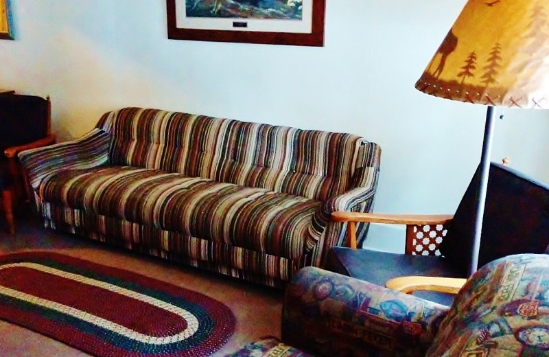 Guest living room at Sears Motel.