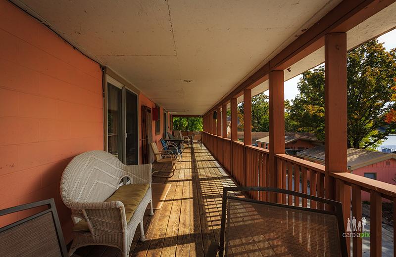Cabin deck at Kon Tiki Resort.
