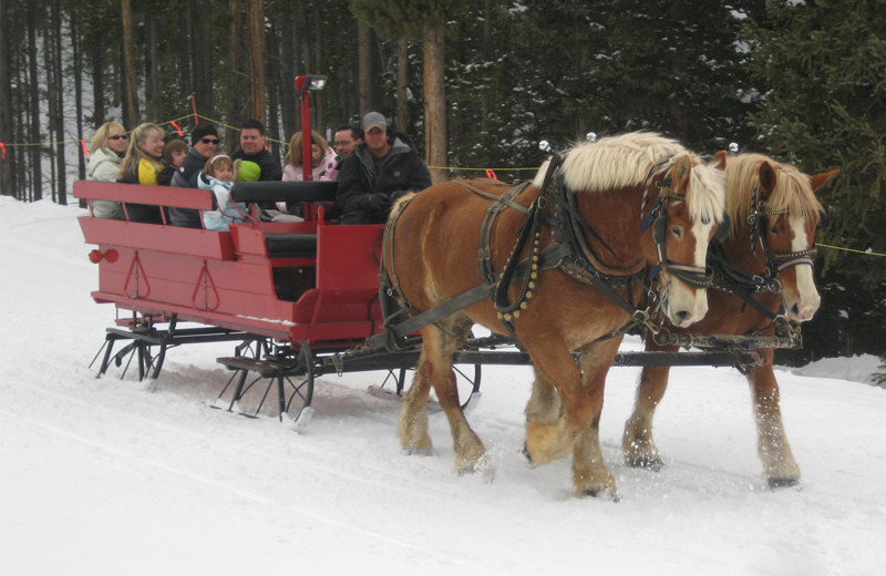 Sleigh ride at Beaver Run Resort & Conference Center.