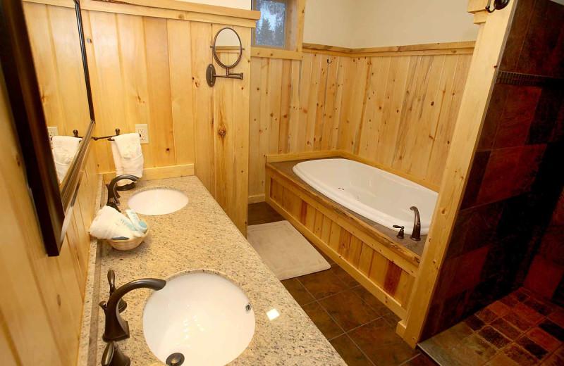 Guest bathroom at Quinn's Hot Springs Resort