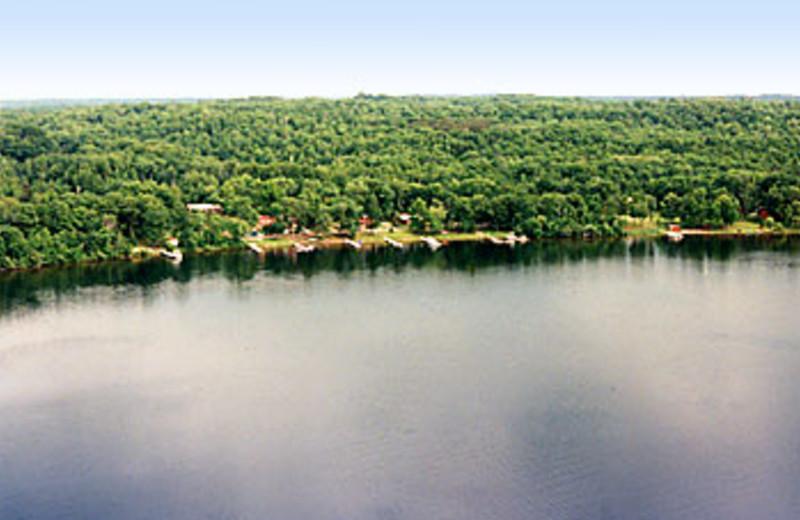 Aerial View of Sunset Bay Resort