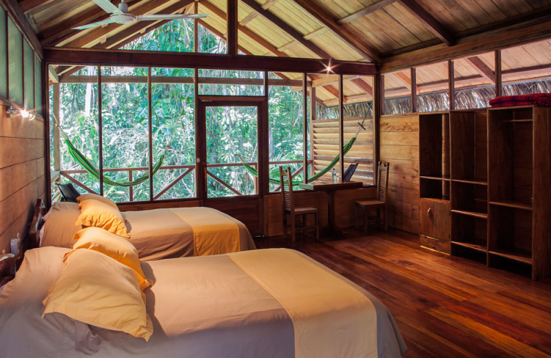 Guest room at Sacha Lodge.