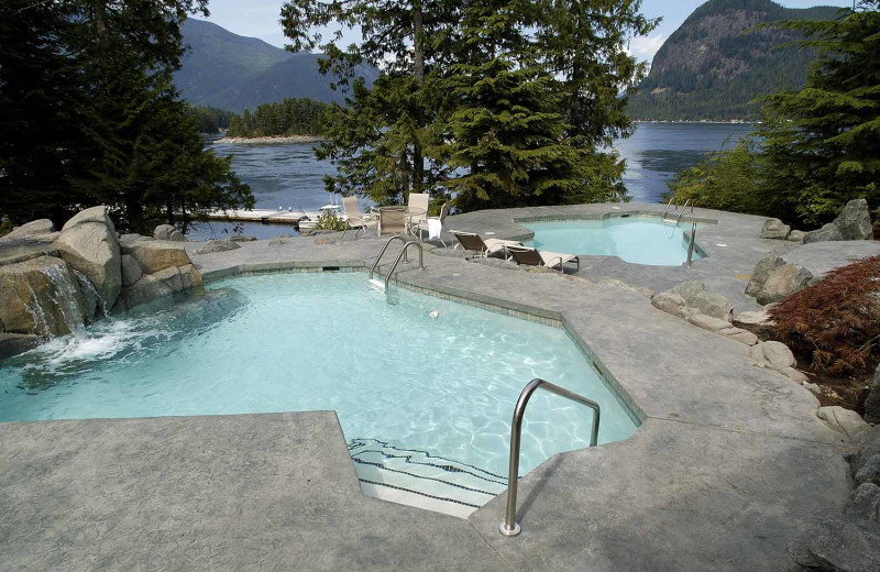 Outdoor pool at Sonora Resort and Conference Centre, Canada.