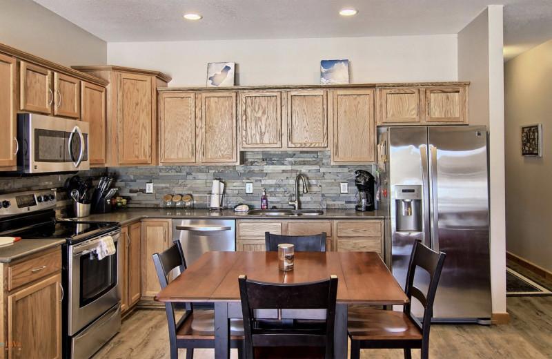 Guest kitchen at Hawk's Eye Golf Resort.