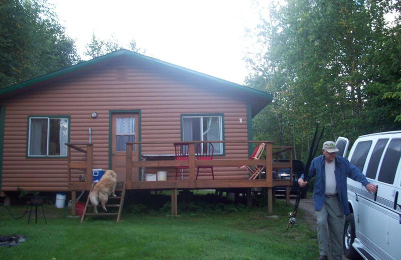 Cabin exterior at Pakwash Lake Camp.