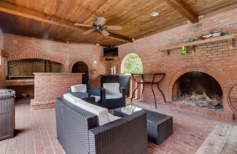 Rental patio at Vacasa Ocean City.