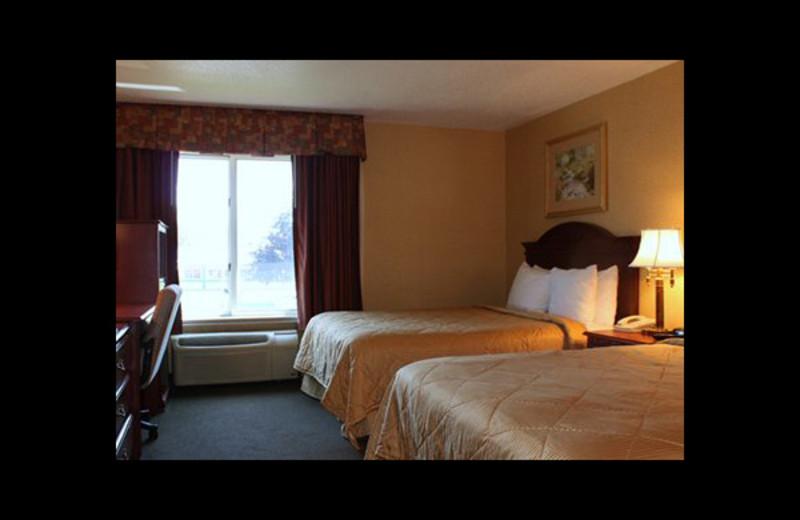 Guest room at Comfort Inn & Suites Ann Arbor.