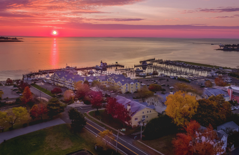 Sunset at Saybrook Point Resort and Marina.