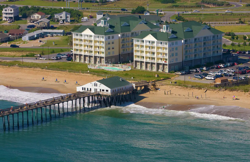 Aerial view of Hilton Garden Inn Outer Banks/Kitty Hawk.