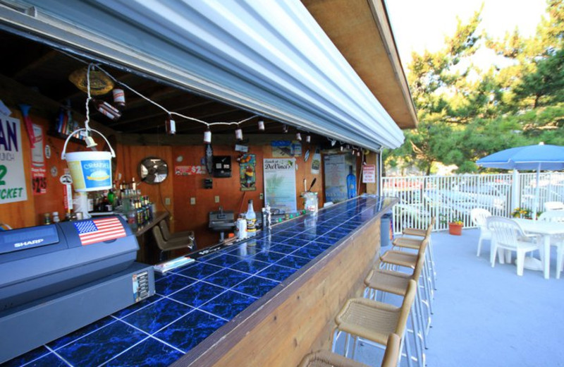 Pool bar at Harrison Hall Hotel Ocean City.