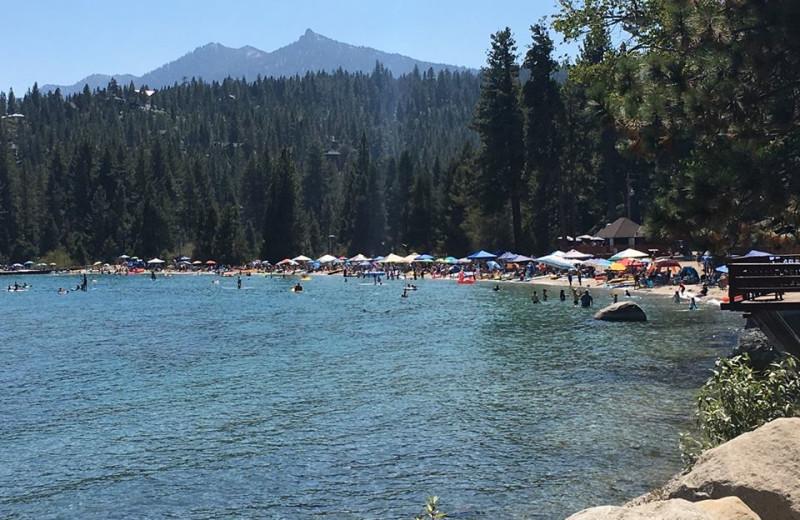 Lake at Meeks Bay Resort.