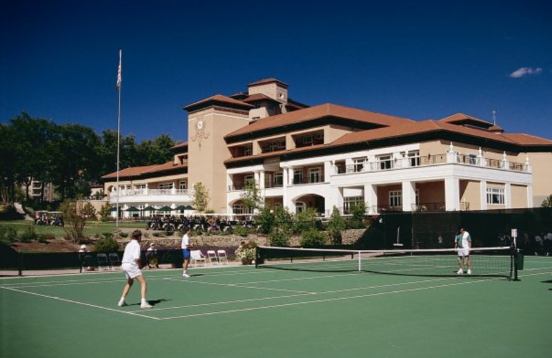 Tennis courts at The Broadmoor.