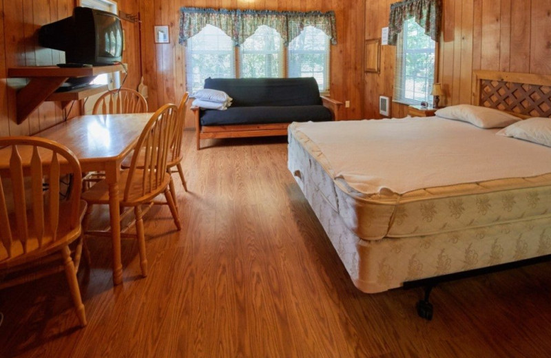 Cabin interior at MarVal Resort.