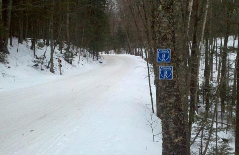 Skiing trail at Lakewoods Resort.