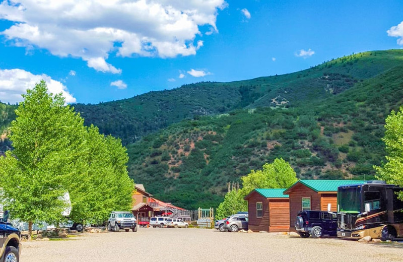 Campground at Glenwood Canyon Resort.