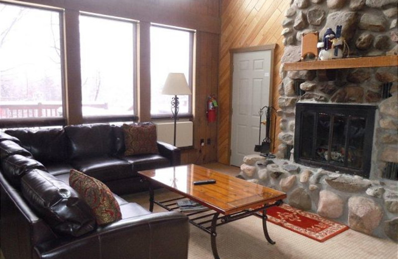 Rental living room at Big Powderhorn Mountain Resort.