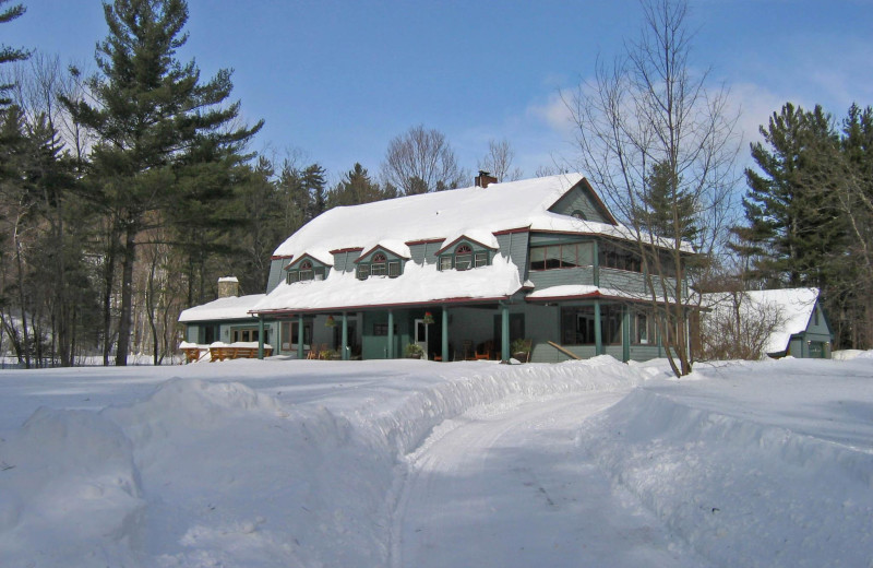 Winter at Trails End Inn.