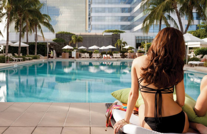 Outdoor pool at Four Seasons Hotel Miami.