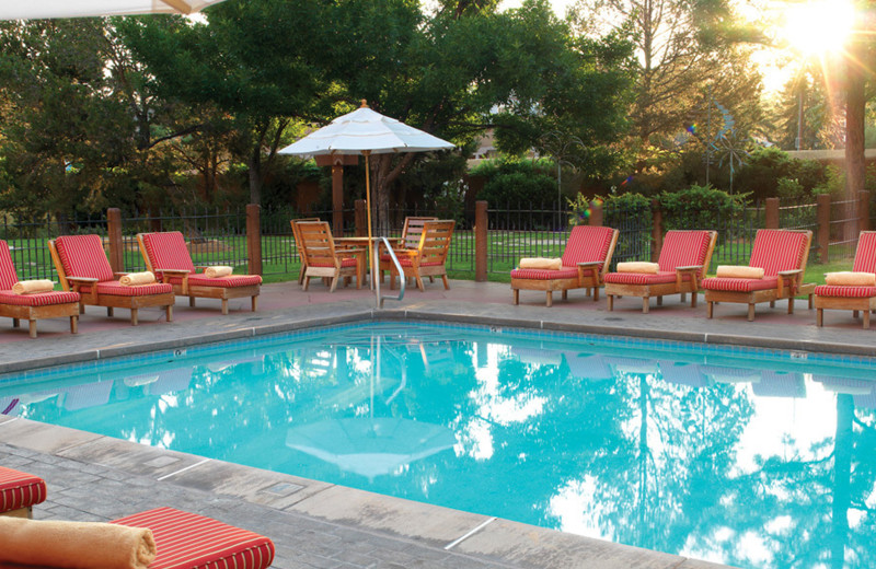 Outdoor pool at Inn and Spa at Loretto.