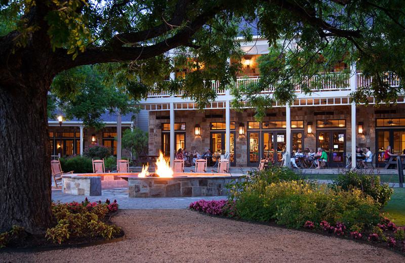 Patio at Hyatt Regency Lost Pines Resort and Spa.