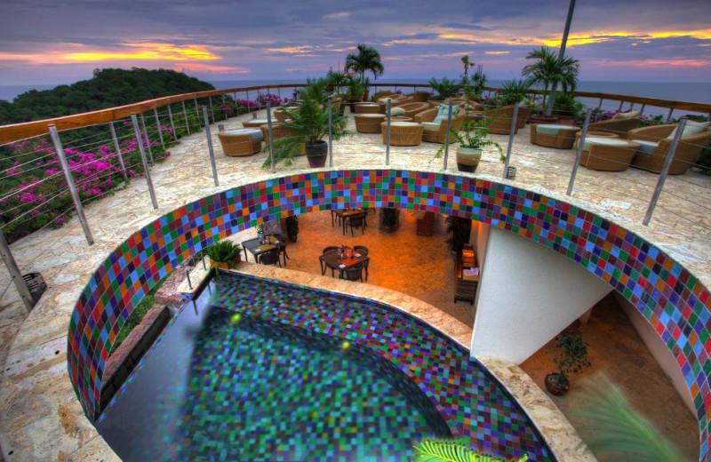 Patio at Jade Mountain Resort.