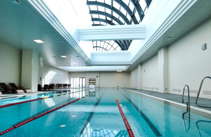 Indoor pool at Hotel Lotte Pusan.