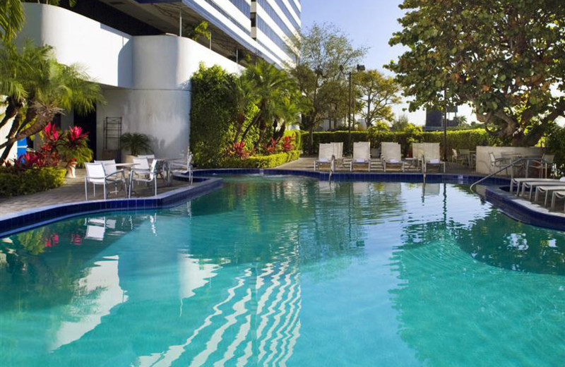 Outdoor pool at Sheraton Miami Airport Hotel.