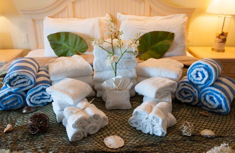 Luxury linens at Anna Maria Vacations.
