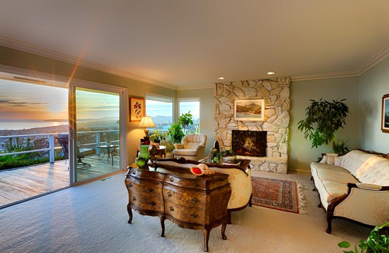 Rental living room at Seabreeze Vacation Rentals, LLC-Orange County.