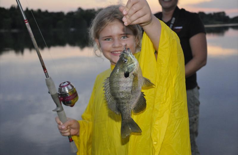 Fishing at Weslake Resort.