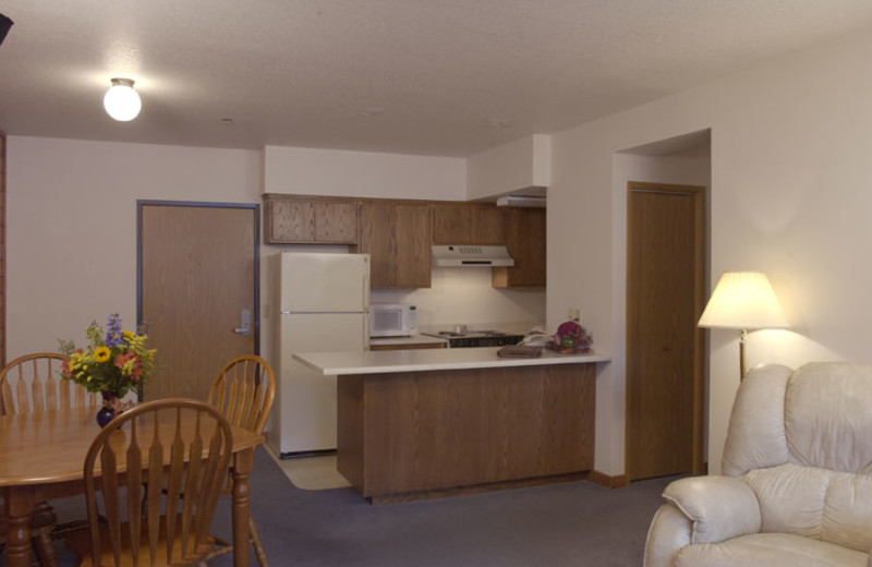 Suite kitchenette at Adobe Resort.
