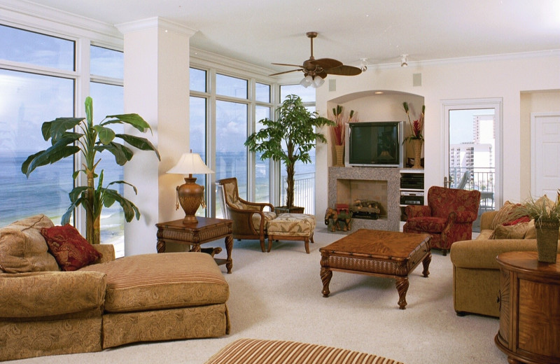 Rental living room at Sterling Resorts.