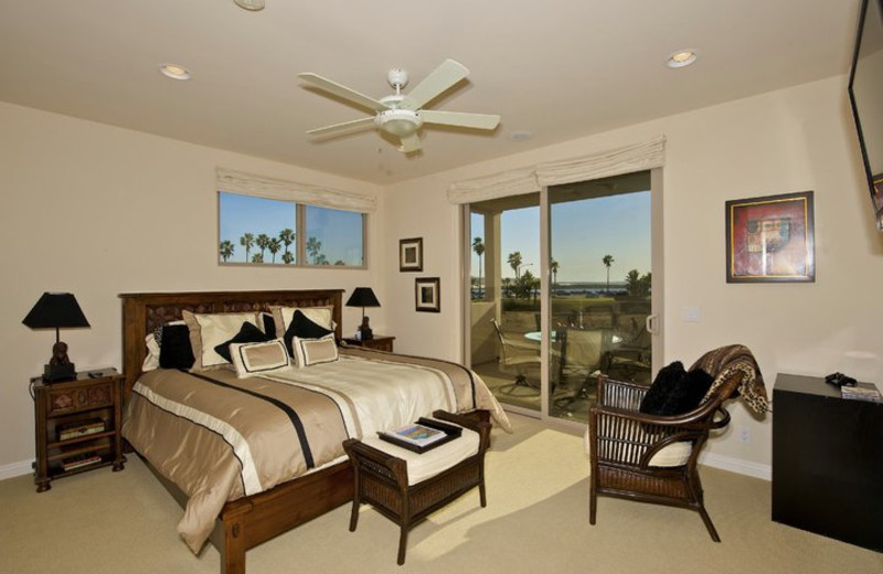 Rental bedroom at Pacific Sunset Group.