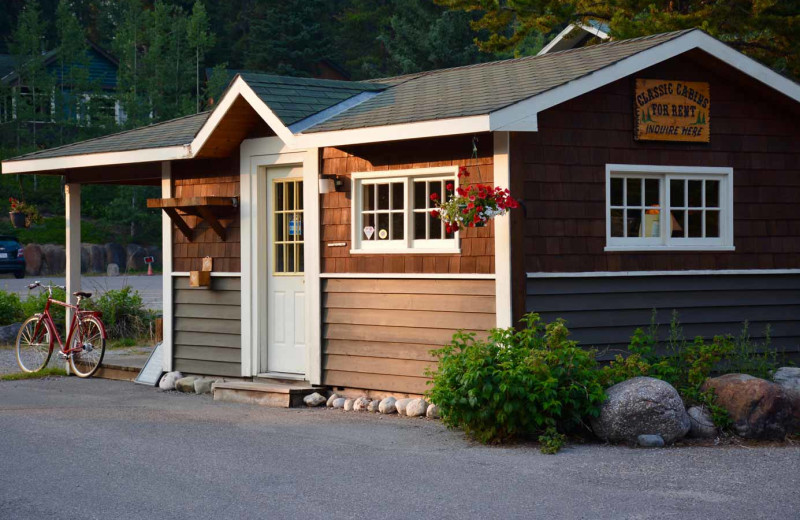 Check in at Johnston Canyon Lodge & Bungalows.