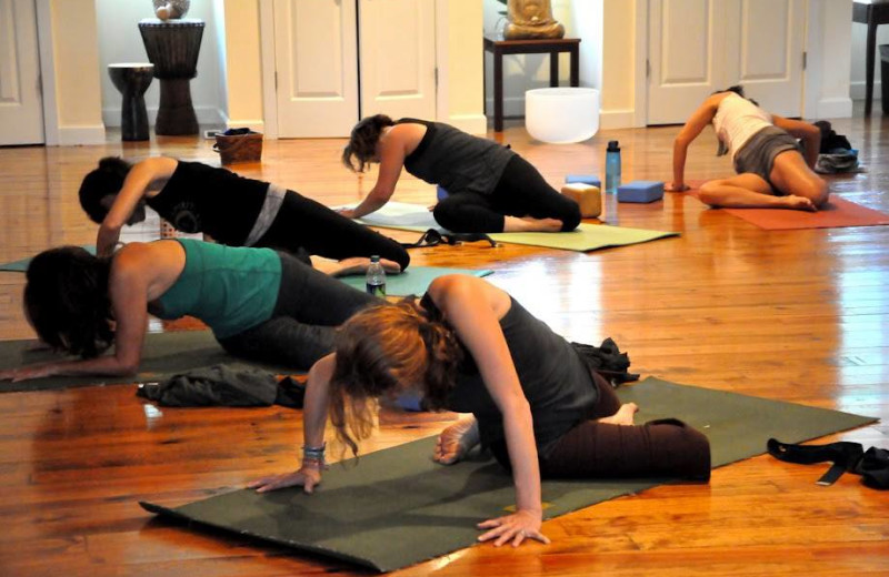 Yoga Hall at Dahlonega Spa Resort.