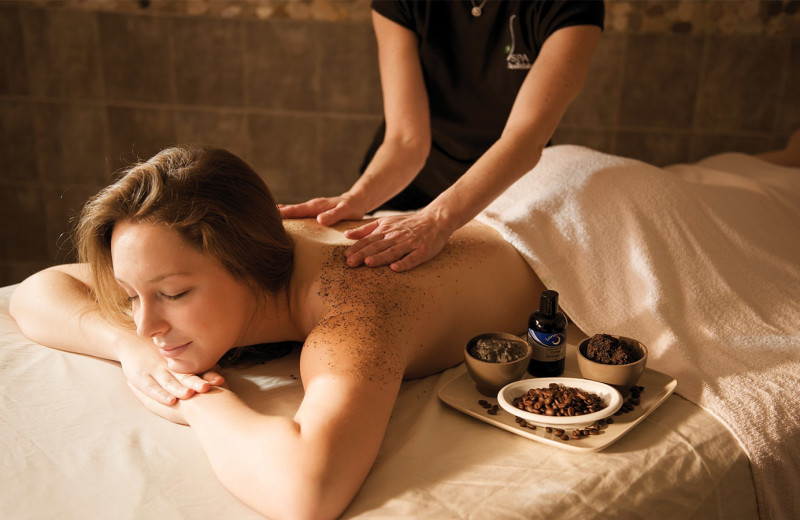 Back massage at Stoweflake Mountain Resort & Spa.