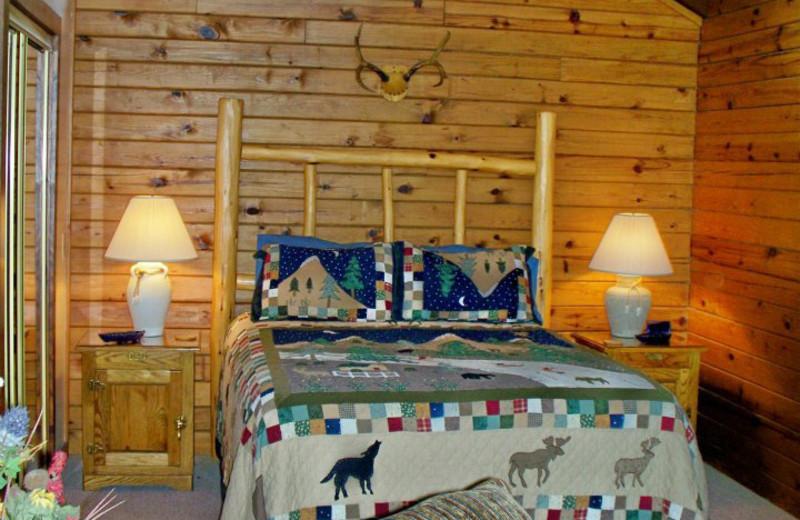 Cabin Bedroom at Red Bud Valley Resort