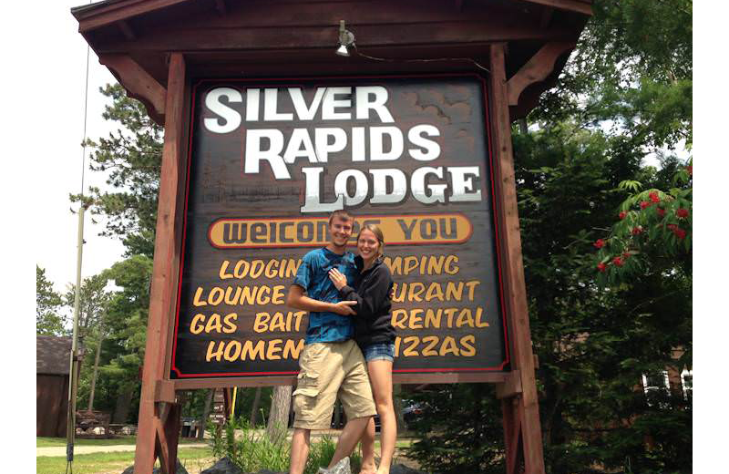 Couple at Silver Rapids Lodge.
