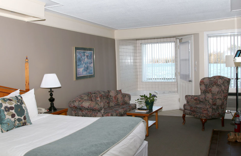 Guest room at Fern Resort.