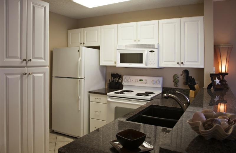 Rental kitchen at Seascape Resort.