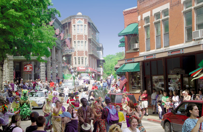 Eureka Springs hosts many parades in downtown.