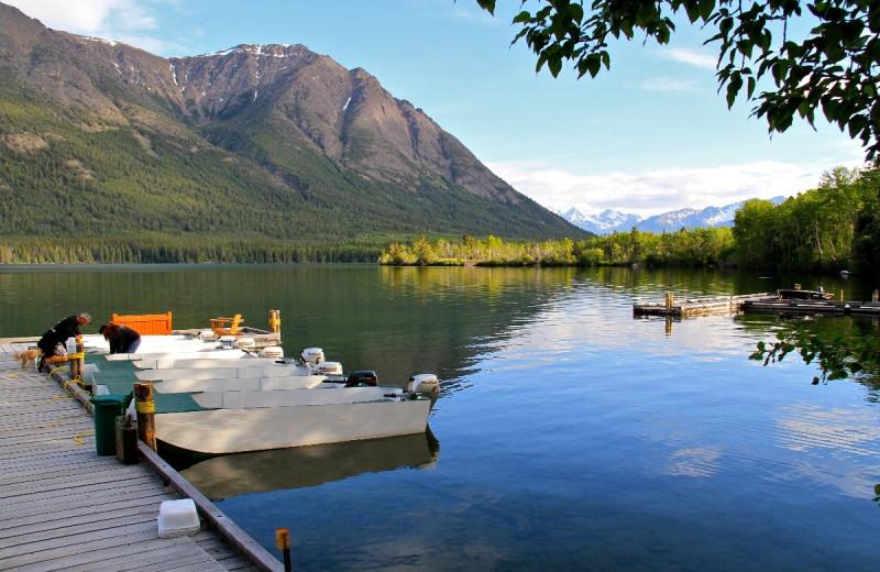 Lake view at Tsuniah Lake Lodge.