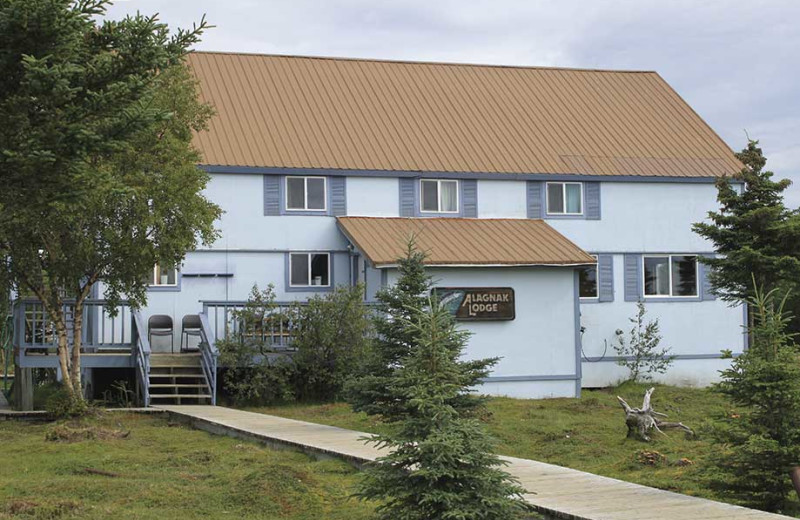 Exterior view of Alagnak Lodge.