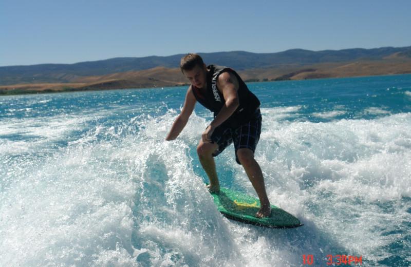 Surfing at Utah Family Lodges.