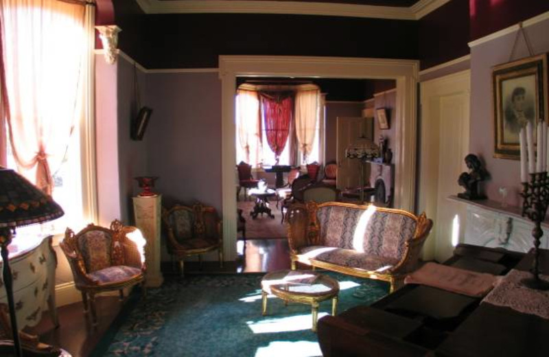 Parlor view at Starr Mansion Bed & Breakfast.