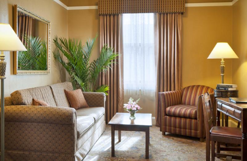 Suite living room at Hassayampa Inn.